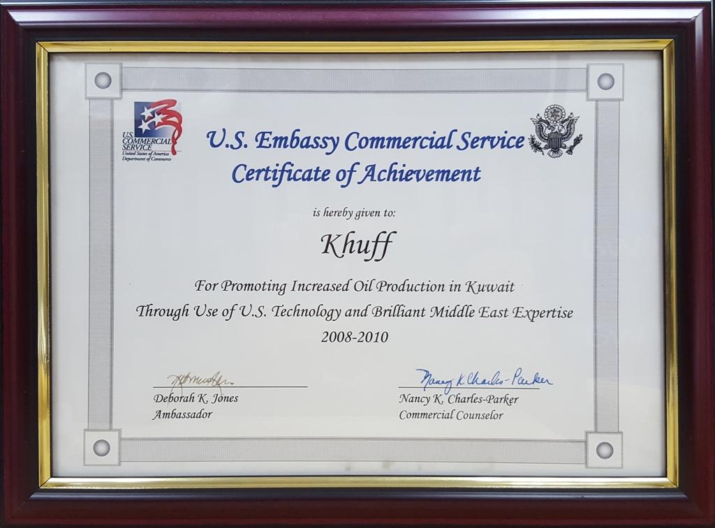 Awards & Certificates - Khuffenergy- Khuff Genral Trading